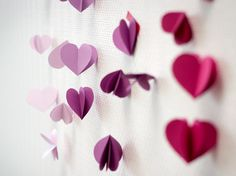 Heart garland - DIY wedding decoration by Bijou Brigitte