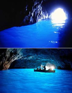 青の洞窟(Grotta Azzurra)- イタリア南部・カプリ島にある海食洞