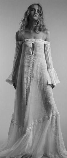 Bohemian causal wedding dress