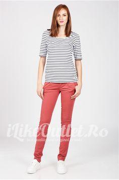 Pantaloni skinny rosu caramiziu - BERSHKA