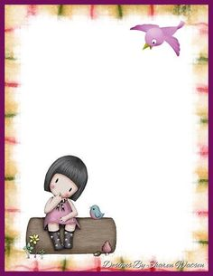 . Free Printable Stationery, Santoro London, Free Digital Scrapbooking, Note Paper, Writing Paper, Cute Images, Copics, Paper Toys, Book Of Shadows