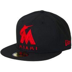 bc085f7d9cb7e New Era Seasonal Basic Cap Miami Marlins black red - entdeckt im Harlem  Streetwear Shop!