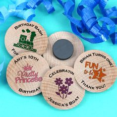 Find Kids Birthday Wooden Magnets with quantity discounts here, along with other wedding favors and shower gifts. Wedding Party Favors, Birthday Party Favors, Birthday Bash, Birthday Wishes, Get The Party Started, Shower Gifts, Special Day, Gratitude, Magnets