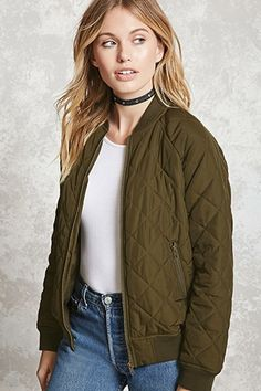 Contemporary Quilted Bomber