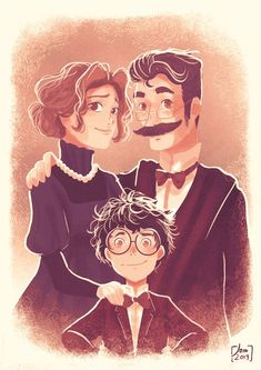 Space Dementia — Fleamont, Euphemia and James Potter. Fanart Harry Potter, Harry James Potter, Harry Potter World, Arte Do Harry Potter, Yer A Wizard Harry, Harry Potter Quotes, Harry Potter Universal, Harry Potter Fandom, Lily Evans
