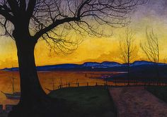Evening, Akershus by Harald Oskar Sohlberg on Curiator, the world's biggest collaborative art collection. Nocturne, Landscape Art, Landscape Paintings, Scandinavian Paintings, Dulwich Picture Gallery, Nordic Art, European Paintings, Collaborative Art, Art Moderne