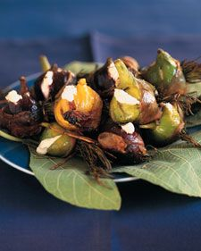 Grilled Figs with Goat Cheese and Prosciutto