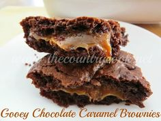 The Country Cook: Gooey Chocolate Caramel Brownies