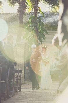 1970s Inspired Backyard Barbecue Wedding: Emily & Chris