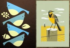 """art prints by Shay Ometz and Jeff Barfoot of """"bee things"""""""