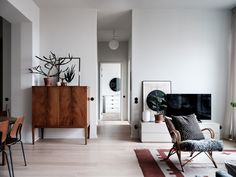 The Nordroom - A Scandinavian Apartment With Floor To Ceiling Windows Affordable Interiors, Home Decor, Floor To Ceiling Windows, Scandinavian Window, Scandinavian Apartment, Loft Spaces, Trending Decor, Living Room Designs, Modern Apartment