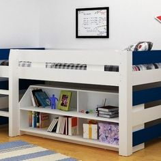 Great storage and stylish bed