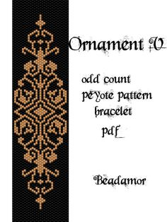 Peyote Pattern for bracelet: Ornament V INSTANT by Beadamor