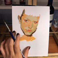 "Veronika Gorbatenko (@veronikiy) ""Another gouache sketch in progress """