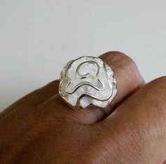 925 Sterling Silver Ribbon Cluster Floral Cocktail Ring Size 8 8.8Gr Modernist #Unbranded #Cluster