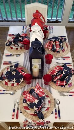 A Beach-Themed Table Setting for the of July: Happy Independence Day! – Between Naps on the Porch Fourth Of July Decor, 4th Of July Celebration, 4th Of July Decorations, 4th Of July Party, July 4th, 4th Of July Wreath, Table Decorations, Memorial Day Decorations, Holiday Decorations