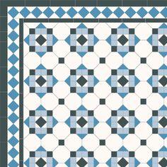 London Mosaic Victorian tile design: Hallington - multi coloured, traditional victorian, floor tiles