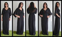 Black Long Dress /Woman black dress /  by ClothesByLockerRoom