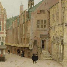 Het oude stadhuis in Amsterdam, Pieter Jansz. Saenredam, 1657 - Pieter Jansz. Saenredam - Kunstenaars - Ontdek de collectie - Rijksmuseum