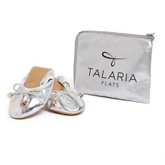 Talaria Flats - Premium Silver Flats make a terrific gift for your bridesmaids! Keep them dancing in comfort and style all night!