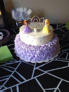 Sofia the first birthday cake: