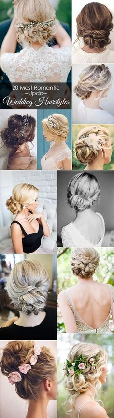 20 most romantic bridal updos wedding hairstyles to make your big day . - 20 most romantic bridal updos wedding hairstyles to inspire your big day - Wedding Hair And Makeup, Wedding Updo, Hair Makeup, Wedding Day, Trendy Wedding, Wedding Tips, Wedding Hair For Short Hair, Boho Wedding, Wedding Hacks