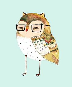 Owls With Glasses @Becky Hughes Holmquist