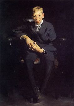 George Bellows - 1907 Frankie the Organ Boy oil on canvas 122 x 88 cm