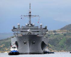 "USS Mount Whitney LCC-20 SOUDA BAY, Greece (Feb. 28, 2012) - 8 x 10"" Photograph"