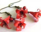 Boucles d'oreille Origami - Lis - 0056 : Boucles d'oreille par kami-art