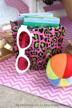 Doll Craft- Make a Doll Sized Beach Bag