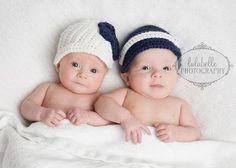 Twin Newsgirl and Newsboy Crochet Baby Hat by LilKahunaCrochet, $40.00/can't take the cuteness