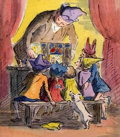 toy illustration Mr Ardizzone presents his toy theatre by Edward Ardizzone, 1947 History Of Illustration, Children's Book Illustration, Edward Ardizzone, Toy Theatre, Children's Picture Books, Illustrations Posters, Childrens Books, Illustrators, Book Art