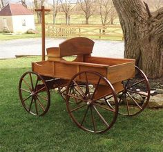 Amish Buckboard Wagon by Dutchcrafters Furniture Store Toy Wagon, Horse Wagon, Backyard Swings, Amish Furniture, Old World, Baby Strollers, Solid Wood, Woodworking, Horses