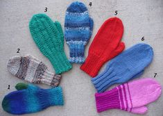 Needles, Notes and News: No swatch, No Gauge Mittens for Kids