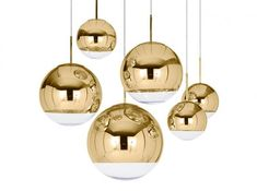 Mirror Ball Gold Pendant Lighting from Tom Dixon A Closer Look at Pendant Lighting Trends
