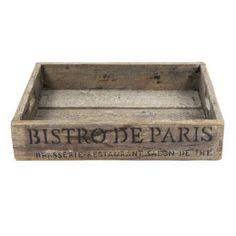 Bistrot de Paris Crate - from Cult Furniture UK Glamping, Boutique Camping, Crate Storage, Storage Shelving, Bistro, Crates, Solid Wood, Design, Home Decor