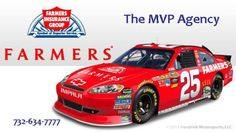 "#tbt ""Vroom! Vroom! 2011 Farmers Insurance teamed up with Hendrick Motorsports and driver Mark Martin for five races in the NASCAR Sprint Cup Series. This special No. 25 Farmers Insurance Throwback Team Chevy was driven by Martin on May 21 2011 to commemorate 25 years since Hendrick Motorsports debuted the No. 25 in 1986. Stop in at The MVP Insurance Agency for a quote, mention this post and get a more current die-cast #5 racer! 732-634-7777 www.mvpinsuranceagency.com Farmers Insurance from…"