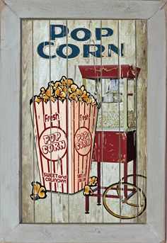 Home Theater Movie Cinema Snack Bar Home Decor Rec Room Popcorn Machine Concessions Sign