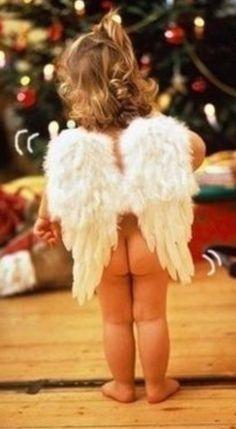 Cute little angel.