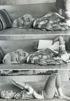 Marilyn Monroe reading a script