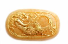 Mermaid Soap Oval / Siren Soap by SkyRainSoap on Etsy
