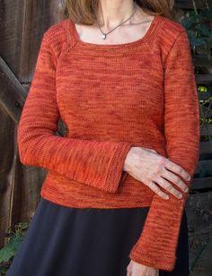 Killarney Top-Down Pullover Knitting pattern by Sue McCain Crochet Needles, Knit Crochet, Easy Knitting Projects, Knitting Ideas, Knitting Patterns Free, Crochet Patterns, Pullover, Coat, Clothes
