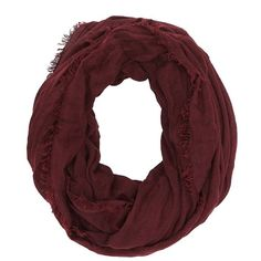 Charlotte Russe Fringed Infinity Scarf ($9.99) ❤ liked on Polyvore featuring accessories, scarves, oxblood, loop scarves, wrap shawl, fringe shawl, fringed infinity scarves and lightweight infinity scarves