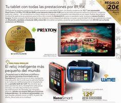 Tablet Prixton y SmartWatch NanoSmart / LTC Especial Navidad 2014