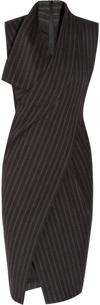 Approved Style Rec Donna Karan : Origami Wool-Blend Dress DKNY : Add gray shiny leather shoes with red heels and toe! Donna Karan, Business Dress, Business Attire, Top Mode, Work Attire, Mode Inspiration, Dress To Impress, Style Me, Fashion Dresses