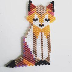 10 mentions J'aime, 3 commentaires - @lollipuce sur Instagram : « Voici ma première création, un renard inspiré d'un origami. #miyuki #renard… »