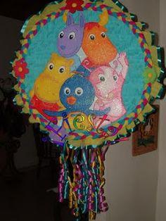 Ideas Para tus Fiestas Tematicas: Decoracion Fiesta De Los Backyardigans Ideas Para Fiestas, Birthdays, Gabriel, Diy Creative Ideas, Creativity, Paper, Theme Parties, Parties Kids, Bebe