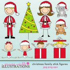 Christmas Family Stick Figures
