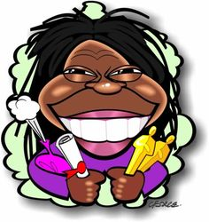 Caricature of Whoopi Goldberg